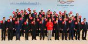 Alla ledarna samlade. AFP/TT