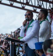 Valmöte med Etiopiens premiärminister Abiy Ahmed. Mulugeta Ayene / TT NYHETSBYRÅN