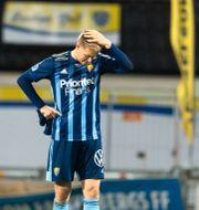 Djurgårdens Jonathan Augustinsson deppar.  KRISTER ANDERSSON / BILDBYRÅN