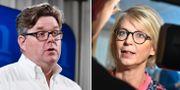 M:s partisekreterare Gunnar Strömmer och ekonomisk-politiska talesperson Elisabeth Svantesson. TT