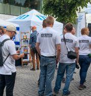 Nordiska motståndsrörelsen i Almedalen 2018.  CATHERINE ÅBERG/TT / TT NYHETSBYRÅN
