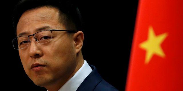 Kinas utrikesdepartementets talesperson Zhao Lijian. Carlos Garcia Rawlins / TT NYHETSBYRÅN