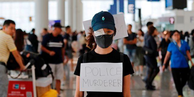Demonstration i Hongkong. TYRONE SIU / TT NYHETSBYRÅN