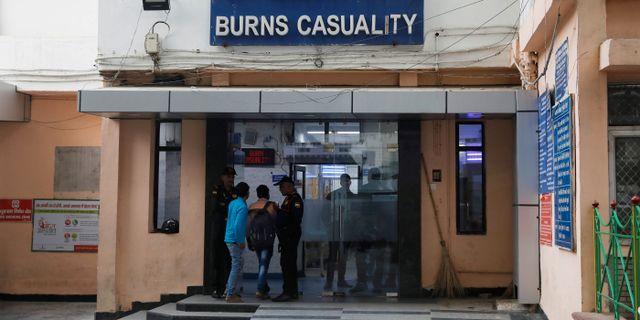 Sjukhuset där kvinnan vårdades och dog.  Adnan Abidi / TT NYHETSBYRÅN