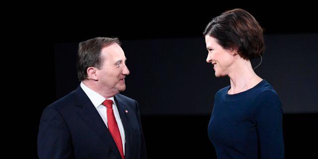 Statsminister Stefan Löfven (S) och Moderaternas partiledare Anna Kinberg Batra Maja Suslin/TT / TT NYHETSBYRÅN