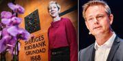 Vice riksbankschefen Anna Breman och Robert Boije, chefsekonom på SBAB.  TT