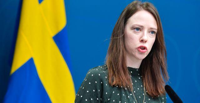 Finansmarknadsminister Åsa Lindhagen (MP). Arkivbild. Jessica Gow/TT / TT NYHETSBYRÅN
