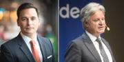 Andreas Hatzigeorgiou, chefsekonom på Stockholms Handelskammare, och Casper von Koskull, vd på Nordea.  TT