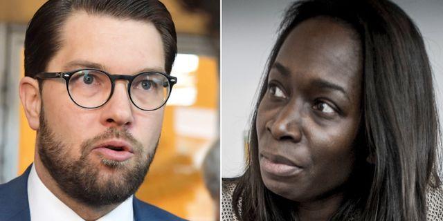 Jimmie Åkesson (SD) och Nyamko Sabuni (L). Jessica Gow / TT, Magnus Hjalmarson Neideman / SvD / TT