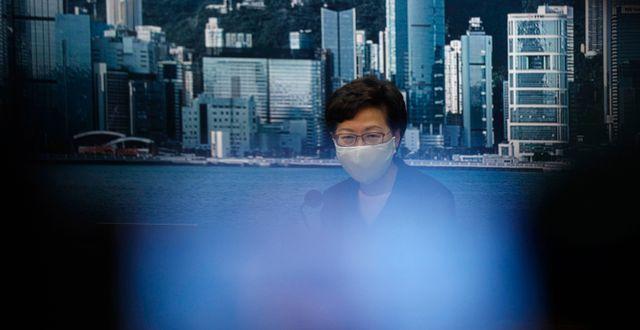 Hongkongs chefsminister Carrie Lam. Kin Cheung / TT NYHETSBYRÅN