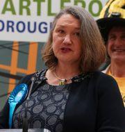 Jill Mortimer vinner i Hartlepool. Owen Humphreys / TT NYHETSBYRÅN