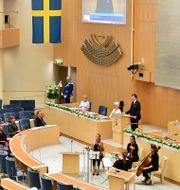 Riksdagens minnesstund. Jonas Ekströmer/TT / TT NYHETSBYRÅN