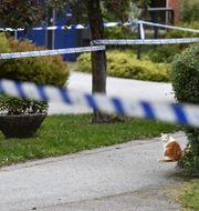 Polisavspärrningar efter explosionen i måndags. Erik Simander / TT / TT NYHETSBYRÅN