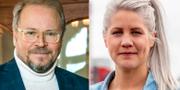 Fredrik Lindström och Emma Knyckare. Arkivbilder. TT