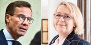 Ulf Kristersson och Irene Svenonius. TT