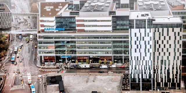 Området kring Nya Karolinska. Arkivbild. Tomas Oneborg/SvD/TT / TT NYHETSBYRÅN