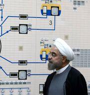 President Rouhani vid en av Irans kärnanläggningar. Mohammad Berno / TT NYHETSBYRÅN