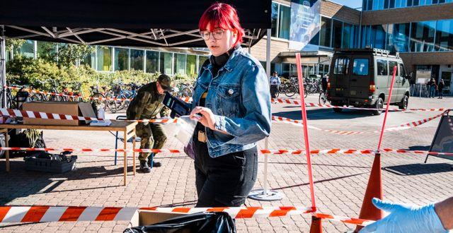 Bild från masstestningen. Magnus Hjalmarson Neideman/SvD/TT / TT NYHETSBYRÅN