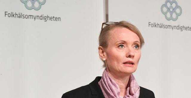 Karin Tegmark Wisell, avdelningschef, Folkhälsomyndigheten.  Fredrik Sandberg/TT / TT NYHETSBYRÅN