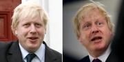 Boris Johnson 2008 och 2018.  TT