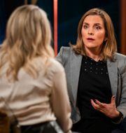 "Anne Ramberg/Anna Ardin i SVT-programmet ""Carina Bergfeldt"". TT/SVT"