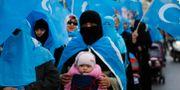 Uigurer i Turkiet protesterar mot Kina i Istanbul i november 2018. Lefteris Pitarakis / TT NYHETSBYRÅN/ NTB Scanpix