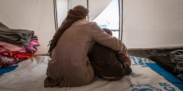 Bild från al-Hol-lägret i Syrien.  Jonathan Hyams / TT NYHETSBYRÅN