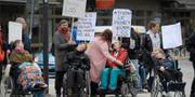 Demonstration mot förändringar om LSS. Janerik Henriksson/TT / TT NYHETSBYRÅN