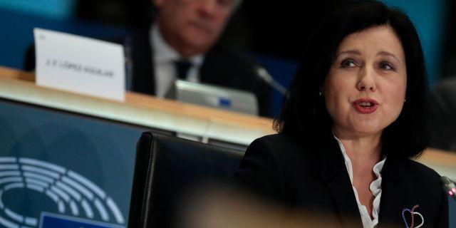 EU:s nya transparenskommissionär Vera Jourova, Virginia Mayo / TT NYHETSBYRÅN