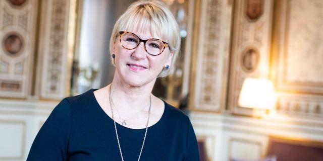 Margot Wallström (S) avgår som utrikesminister. Pontus Lundahl/TT / TT NYHETSBYRÅN