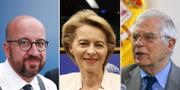 Charles Michel är nominerad till Europeiska rådets ordförande, Ursula von der Leyen till kommissionens ordförande och Josep Borrell till EU:s utrikeschef.  TT