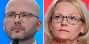 Charlie Weimers (SD) och Heléne Fritzon (S). TT