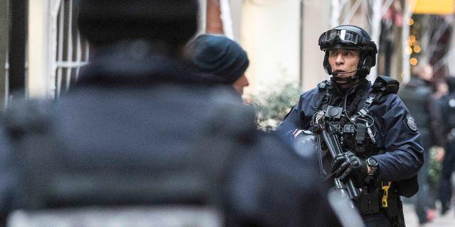 Polis patrullerar efter attentatet i Strasbourg Jean Francois Badias / TT NYHETSBYRÅN/ NTB Scanpix