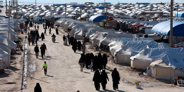 al-Hol-lägret där många svenska barn befinner sig ALI HASHISHO / TT NYHETSBYRÅN