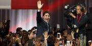 Justin Trudeau i sambnad med talet. Cole Burston / GETTY IMAGES NORTH AMERICA