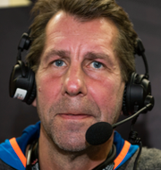Svenska spelaren Jonathan Carlsbogård och experten Magnus Wislander. Bildbyrån
