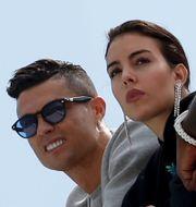 Real Madrids Sergio Ramos, Ronaldo med Georgina Rodriguez. Arkivbilder. TT