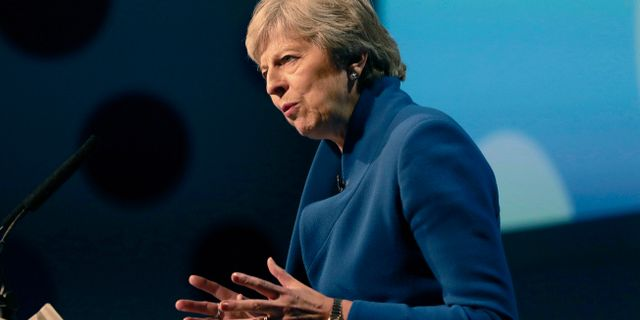 Theresa May. Aaron Chown / TT / NTB Scanpix