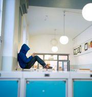 Elev på Sofia skola.  JESSICA GOW / TT / TT NYHETSBYRÅN