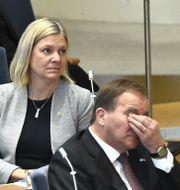 Magdalena Andersson och Stefan Löfven. Claudio Bresciani/TT / TT NYHETSBYRÅN