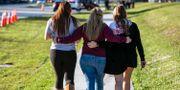 Elever efter skolskjutningen i Parkland. Al Diaz / TT NYHETSBYRÅN/ NTB Scanpix