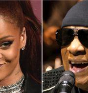 Rihanna och Stevie Wonder.  TT.