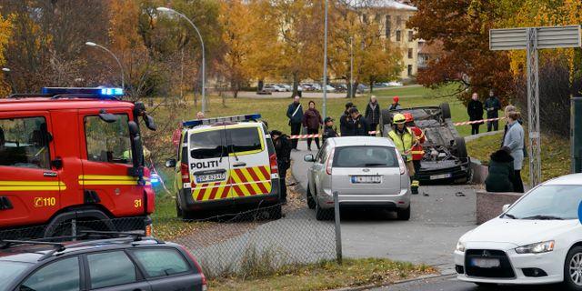 Från händelsen då en ambulans kapades i Oslo. Håkon Mosvold Larsen / TT NYHETSBYRÅN