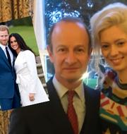 Prins Harry och fästmön Meghan Markle/Henry Bolton och Jo Marney. TT