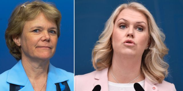 Harriet Wallberg / Socialminister Lena Hallengren.  TT