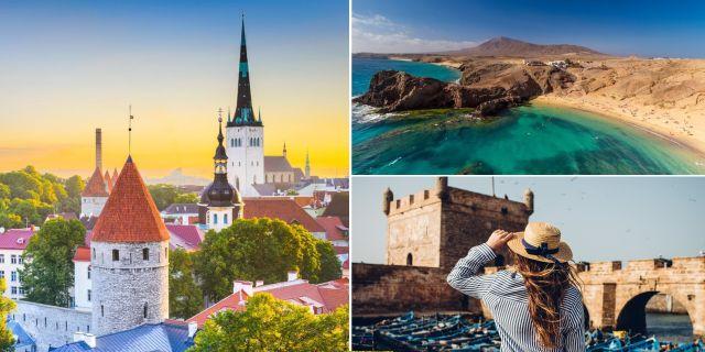 Estlands huvudstad Tallinn, kanariefågeln Lanzarote och den bohemiska orten Essaouira i Marocko finns alla med på Lonely Planets lista över 2018 års mest prisvärda resmål. Thinkstock / Wikicommons