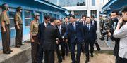 Förhandlare för Sydkorea vid den demilitariserade zonen, arkivbild. HANDOUT / South Korean Unification Ministr