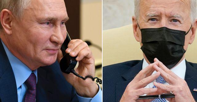 Arkivbilder: Vladimir Putin / Joe Biden TT