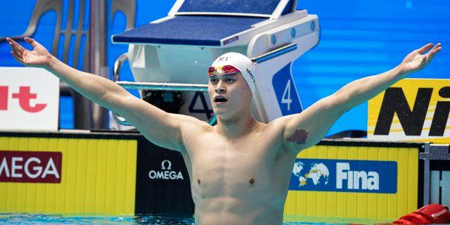 Sun Yang vann 200 meter fritt på sim-VM i Sydkorea. JOEL MARKLUND / BILDBYRÅN