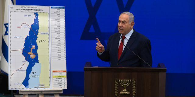 Benjamin Netanyahu idag. Oded Balilty / TT NYHETSBYRÅN